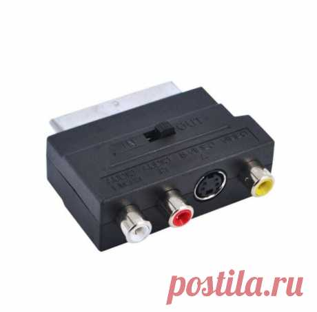 Купить Переходник Орбита SCART-3RCA+S-VHS черный по низкой цене с доставкой из Яндекс.Маркета (бывший Беру)