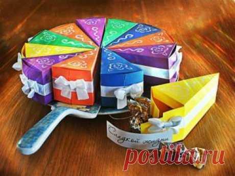 Оригинальная упаковка подарка в виде тортика — Сделай сам, идеи для творчества - DIY Ideas