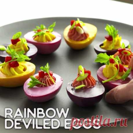 50 минут · Vegetarian Gluten free · Порций: 3 · Rainbow Eats: Rainbow Deviled Eggs