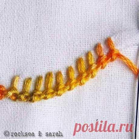 Отделочные вышивальные швы