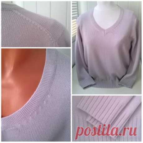 """Мастер-класс """"Пуловер со скошенным плечом и V-образным вырезом"""""""