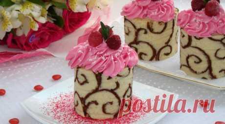 Ажурные пирожные с малиновым джемом — Фактор Вкуса