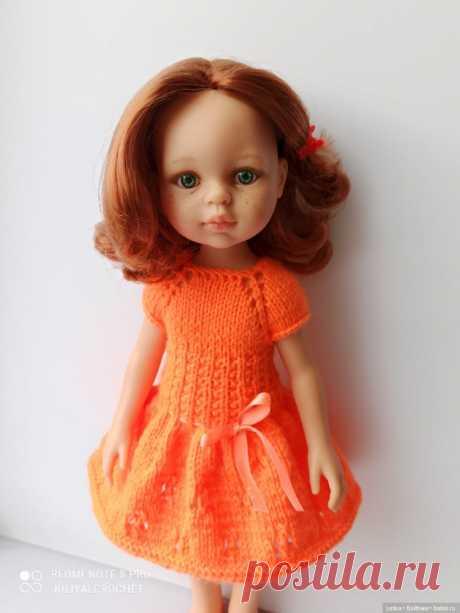 Яркое платье для Паолок спицами МК / Одежда и обувь для кукол своими руками / Бэйбики. Куклы фото. Одежда для кукол