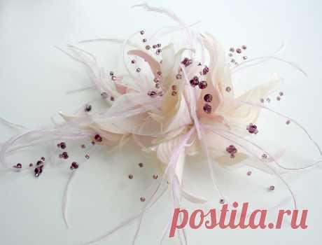 Экспресс-курс «Фантазийные цветы» Обучение по изготовлению цветов для свадебной и вечерней моды.
