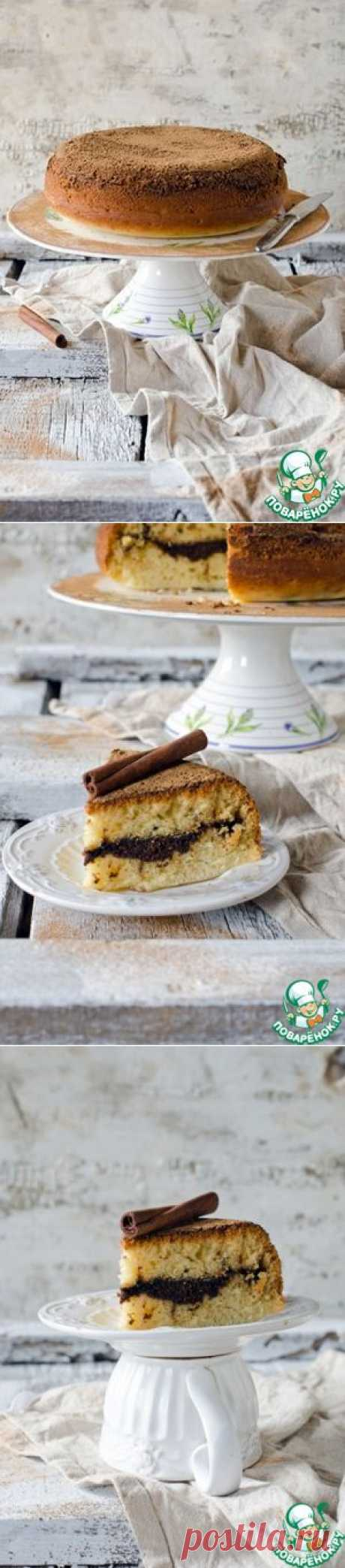 Коричный пирог с хрустящей корочкой - кулинарный рецепт