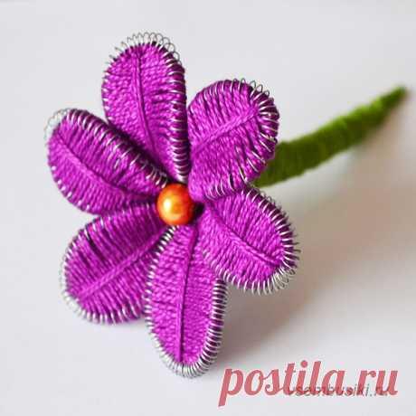 Цветок в технике ганутель своими руками - интернет-магазин Всем Бусики
