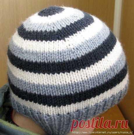 Новый простой способ вязания шапочки-ВКРУГОВУЮ С МАКУШКИ (Вязание спицами) – Журнал Вдохновение Рукодельницы