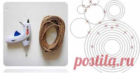 С помощью клея и веревки у вас получится стильный декор для каждой комнаты ...