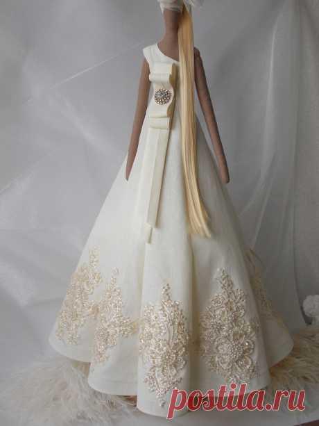 PDF sewing Gala evening long Dress pattern for Tilda doll 65 | Etsy