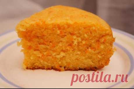 Морковный пирог с манкой на десерт