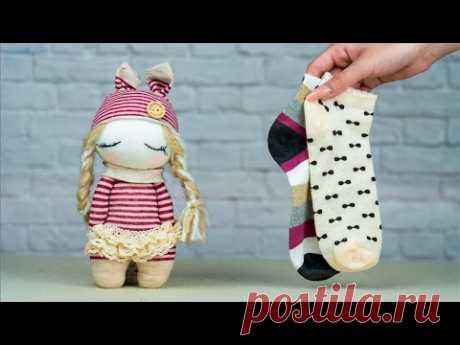Кукла Easy Sock Girl. Ручной работы