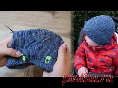 Шапка «Паучок» мальчику спицами | Knitted Hats For Baby Boys «Spider»