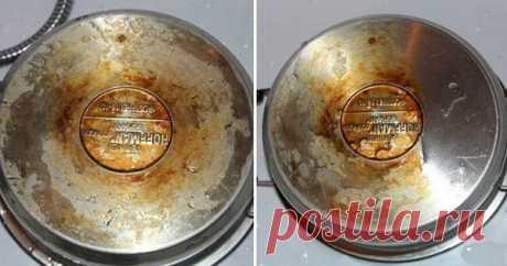 Забытое чудо-средство для очистки кухонной утвари от жира и грязи.