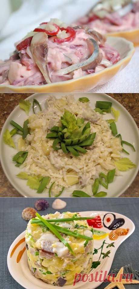 6 рецептов салатов с сельдью / Простые рецепты