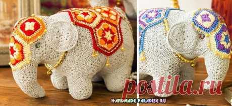 Индийский слон мотивами африканский цветок Индийский слон мотивами африканский цветок понравится любому малышу, сможет стать его любимой игрушкой. Вы легко сможете создать своими руками такого замечательного слоника, если умеете вязать крючком.