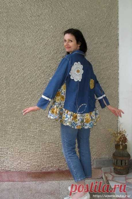 Красивые идеи для воплощения из старой джинсовой одежды и не только