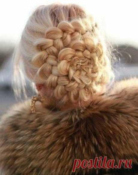 Цветок из косы на голове: инструкция как сделать своими руками, видео и фото