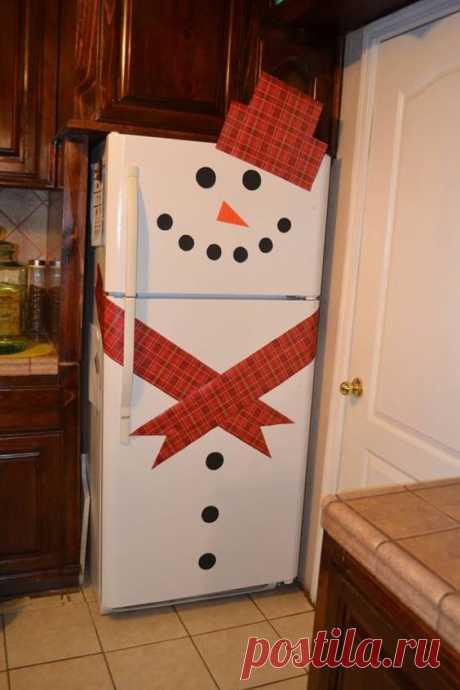Снеговики в новогоднем декоре дома — DIYIdeas