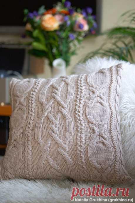 Мастер класс по вязанию чехла на подушку спицами. / Обсуждение на LiveInternet - Российский Сервис Онлайн-Дневников