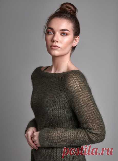 Пуловер из мохера Transparent - Вяжи.ру