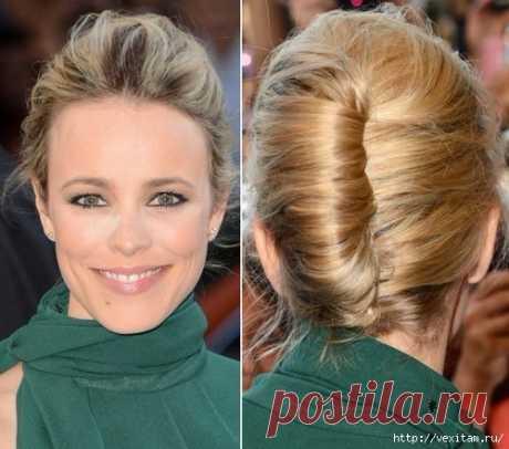 Роскошная укладка волос - французская ракушка