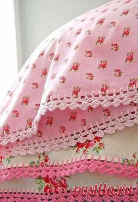 Идея для украшения домашнего текстиля