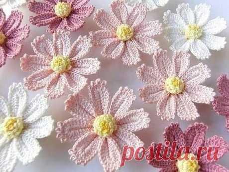 Милые цветы крючком — DIYIdeas