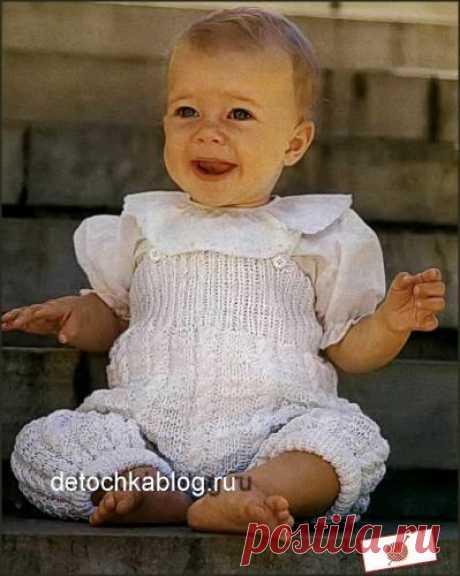 Комбинезон спицами для новорожденных вязать просто - Вязание комплектов и комбинезонов для новорожденных - Вязание малышам - Вязание для малышей - Вязание для детей. Вязание спицами, крючком для малышей