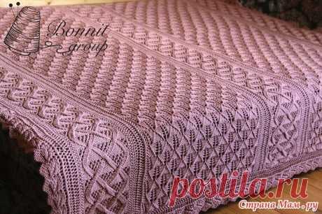 Плед Валентинка | Модное вязание | Яндекс Дзен