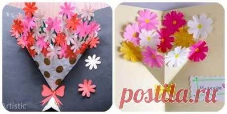 Красивые открытки своими руками на 8 Марта