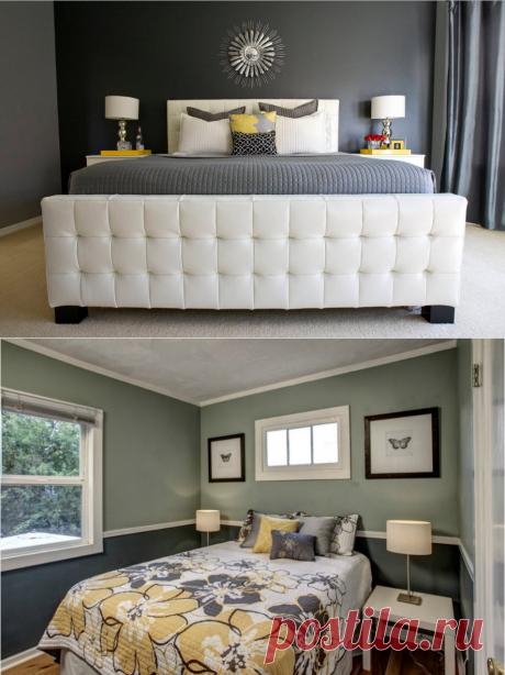 Как оформить спальню в двух цветах