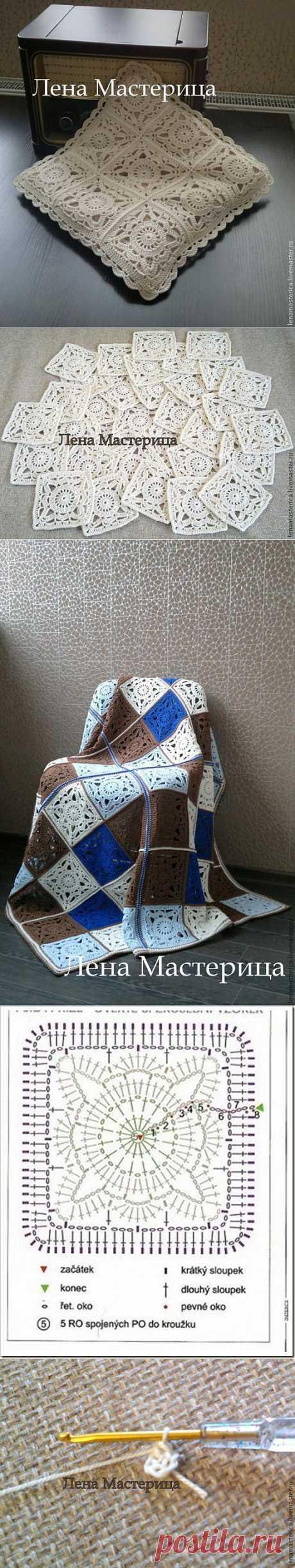 """Квадратный мотив """"Кружевной"""" - Ярмарка Мастеров - ручная работа, handmade"""