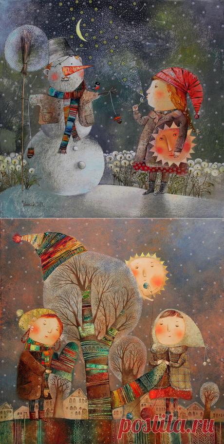 Необыкновенная и неоднозначная живопись Анны Силивончик (много, в т.ч. новые работы)