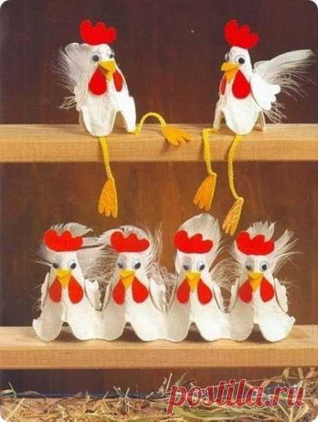 Подставки для яиц своими руками-Craftcafe