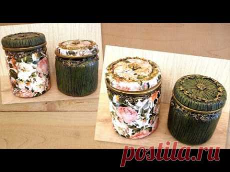 RECYCLING GLASS JARS 😊 2 Beautiful and easy ideas !!!