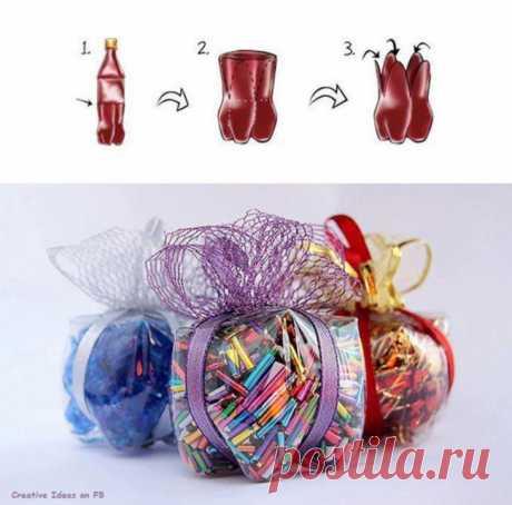 Упаковка подарка...из бутылки! / Упаковка подарков / ВТОРАЯ УЛИЦА