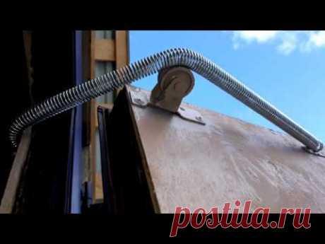 Пружина не трёт калитку ворот, небольшой лайфхак - YouTube
