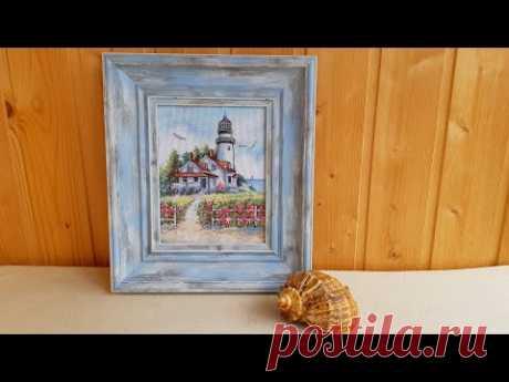 Живописный маяк от Dimensions #МирВышивки #ТатьянаКильмяшкина