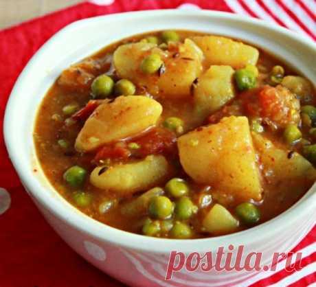Постное овощное рагу с зеленым горошком Простое описание, как приготовить овощное рагу в мультиварке – китайский рецепт из картофеля, лука и зеленого горошка