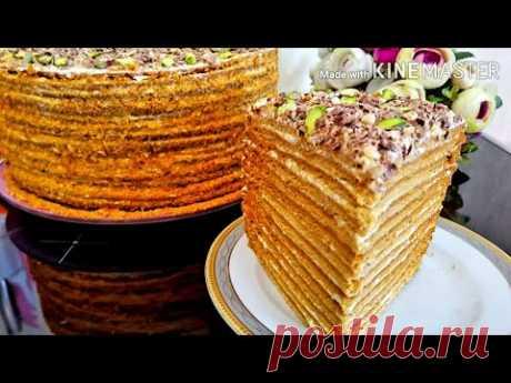 """Шикарный """"МЕДОВИК"""" Классический! Семейный рецепт! Вот как нужно готовить МЕДОВЫЙ ТОРТ! Honey cake"""