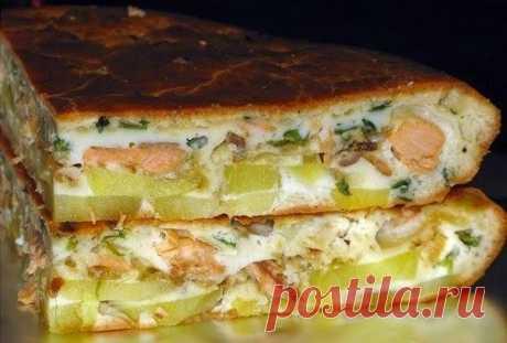 Лучшие кулинарные рецепты: Рыбный заливной пирог с картошкой