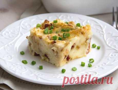 Картофельная запеканка с беконом — Sloosh – кулинарные рецепты