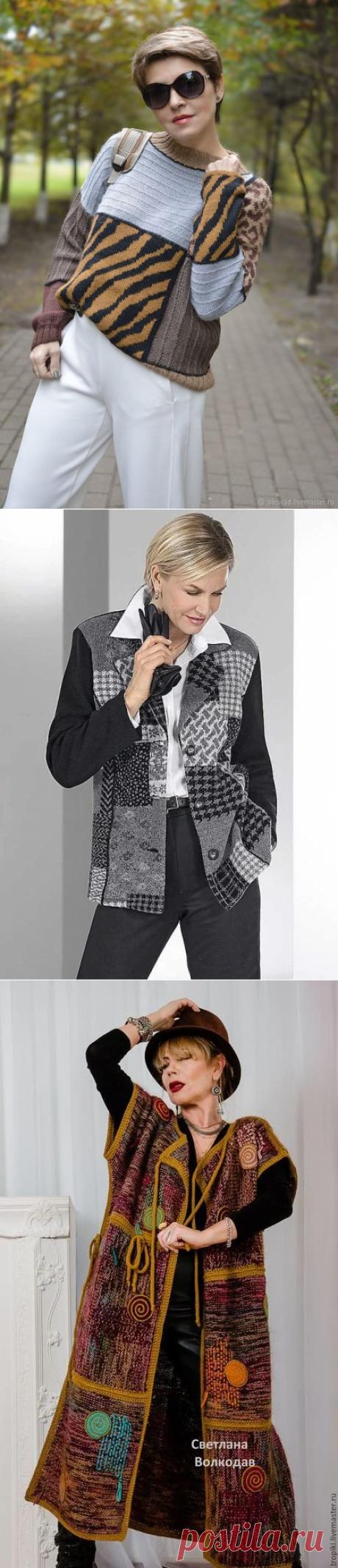 """Женская одежда в стиле """"пэчворк"""" - модно и красиво   Для женщин 45+   Яндекс Дзен"""