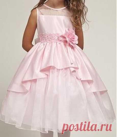 Нарядное платье для девочки с ассиметричным подолом, выкройки от 1 до 14 лет (Шитье и крой) – Журнал Вдохновение Рукодельницы