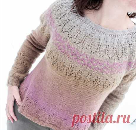 Пуловер с круглой кокеткой Rubies - Вяжи.ру