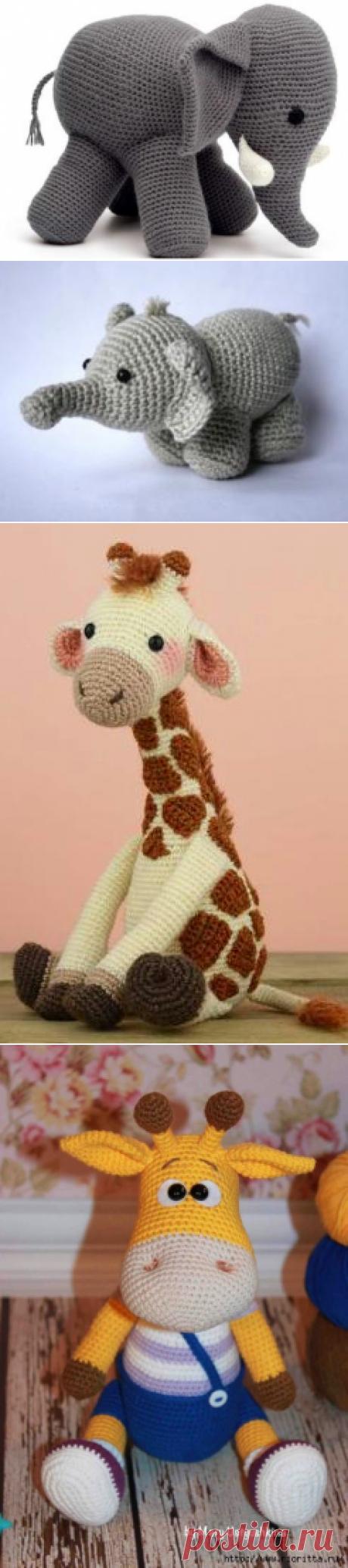 вязаные слоники, жирафы, бегемоты, кенгуру | Записи в рубрике вязаные слоники, жирафы, бегемоты, кенгуру | Вязаные игрушки