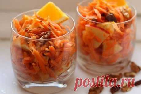 Витаминный морковный салат с изюмом и апельсиновым соком - Сайт для женщин Можно есть весь день и не поправляться!!! Ингредиенты: яблоки — 160 г морковь — 300 г апельсины — 1/2 шт. грецкие орехи — 70 г изюм — 50 г лайм — 1/2 шт. корица молотая — 1,5 ч.л. масло растительное Приготовление: Натираем на крупной терке морковь. Яблоки нарезаем средними кусочками. Заливаем изюм кипятком и оставляем …