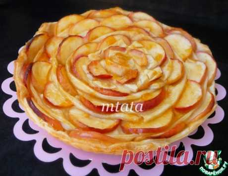 Яблочный пирог с пудинговым кремом – кулинарный рецепт
