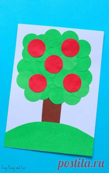 Аппликация с кружочками для самых маленьких — Поделки с детьми