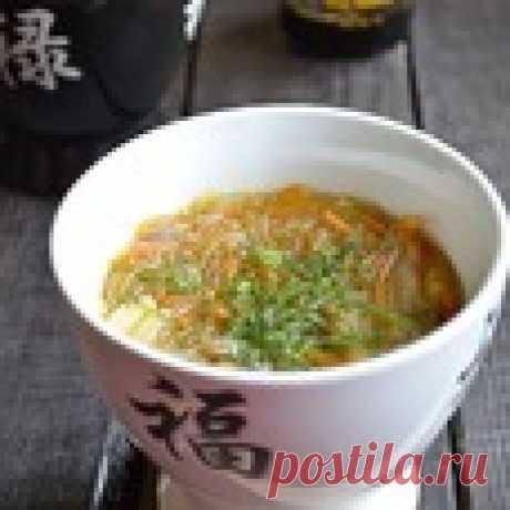 Густой грибной суп с фунчозой Кулинарный рецепт